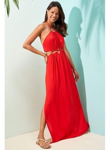 DeFacto Plaj Elbisesi Kırmızı